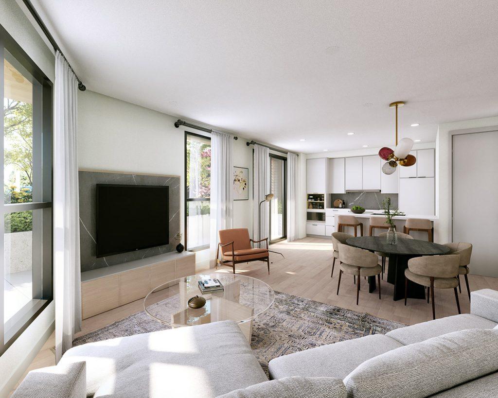 Residences - Living & Kitchen